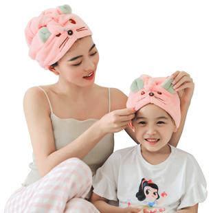 洁丽雅干发帽女可爱吸水速干毛巾