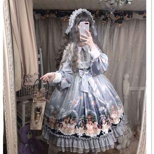 洛麗塔裙子日系少女可愛軟妹蘿莉學生洋裝雪紡連衣裙新款lolita裙