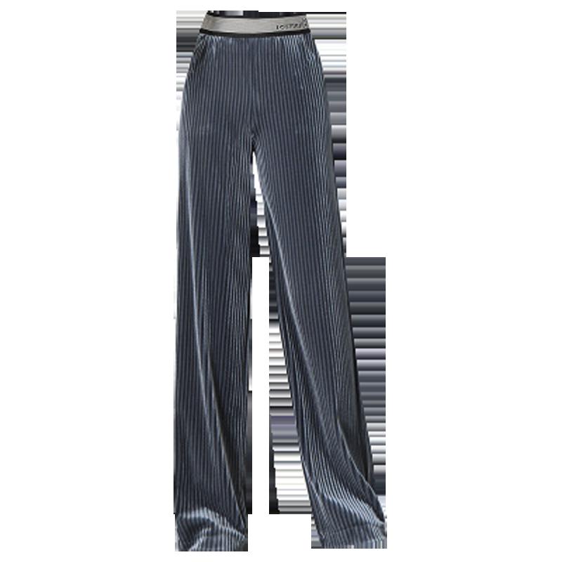 【奶牛的梦】垂感金丝绒显瘦阔腿裤女