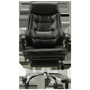 黑白调商务家用书房椅子可躺老板椅
