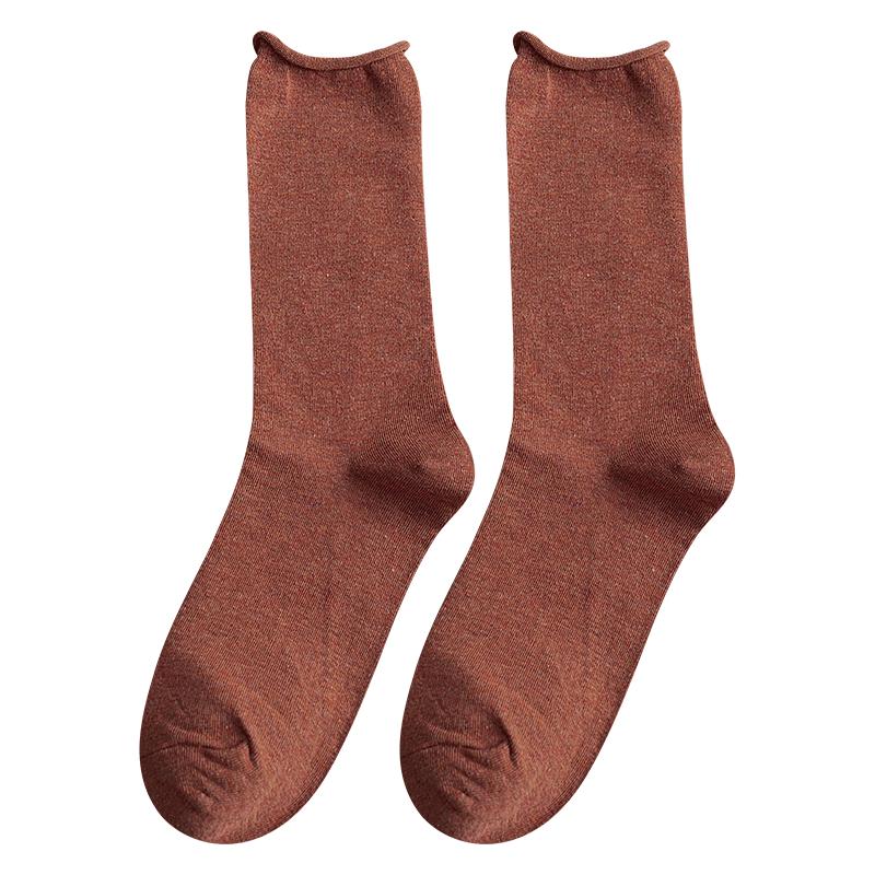 堆堆袜女中长筒韩国版秋冬款卷边袜子春季中厚日系复古百搭ins潮