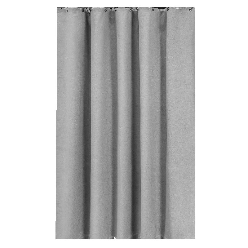 防亚麻罗马穿杆浴室浴帘套装免打孔卫生间窗帘门帘隔断帘加厚挂帘