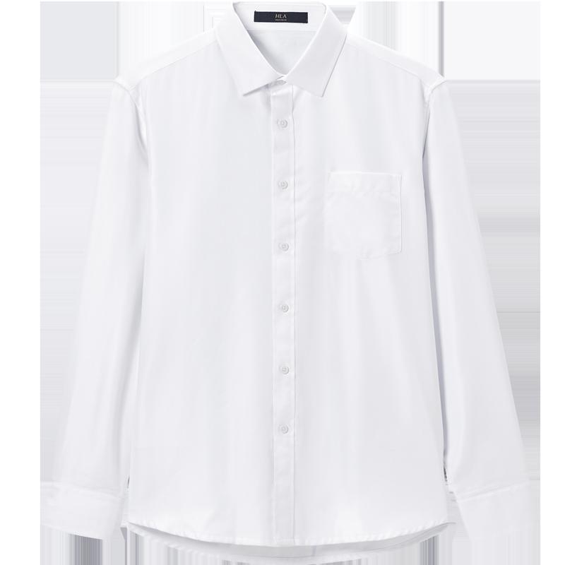 HLA/海澜之家加绒保暖白衬衫
