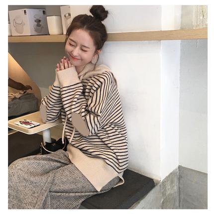秋冬季韩版宽松慵懒学院风针织衫