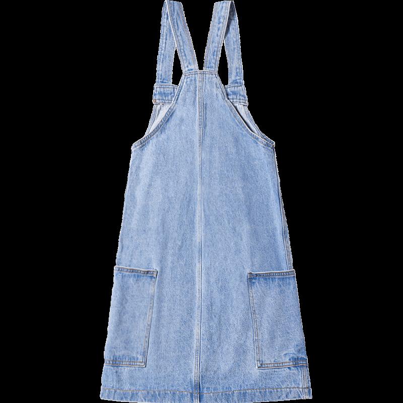 牛仔背带裙女夏季2019新款学生韩版宽松短裙森女牛仔裙吊带连衣裙