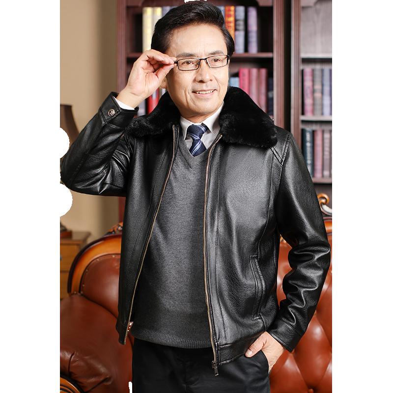 【蓝靛兰】秋冬季节男士皮衣夹克