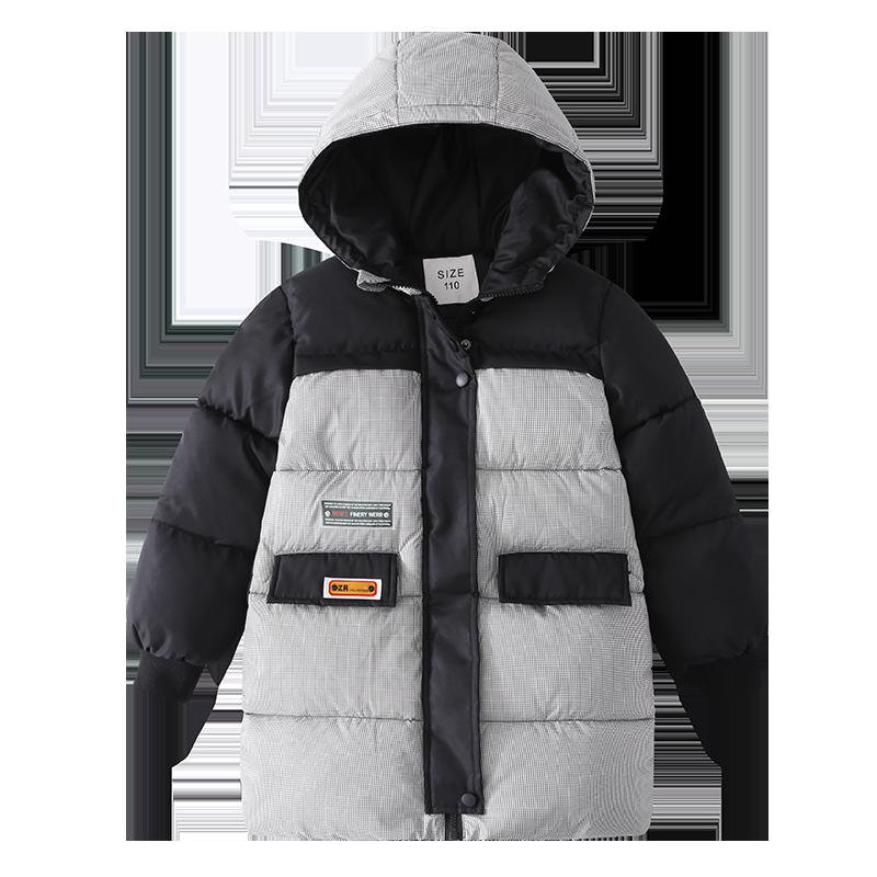 童装冬季外套2019新款男中大童儿童羽绒棉服中长款时尚棉衣外套潮