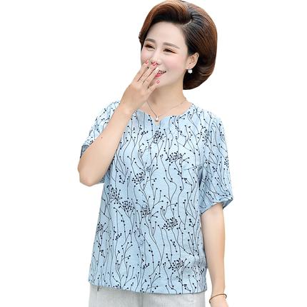 中年女装新款短袖夏装40-50岁t恤