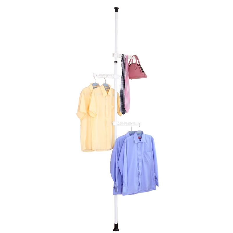 顶天立地衣架落地铁艺衣帽架室内晾衣架创意挂衣架多功能简易衣架
