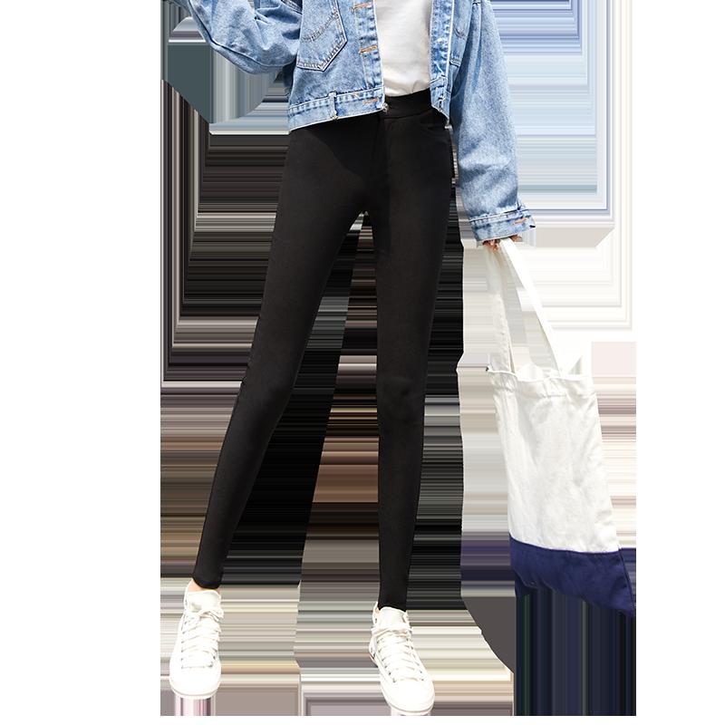 打底裤外穿薄款九分小脚紧身显瘦魔术黑裤黑色夏季2020新款裤子女
