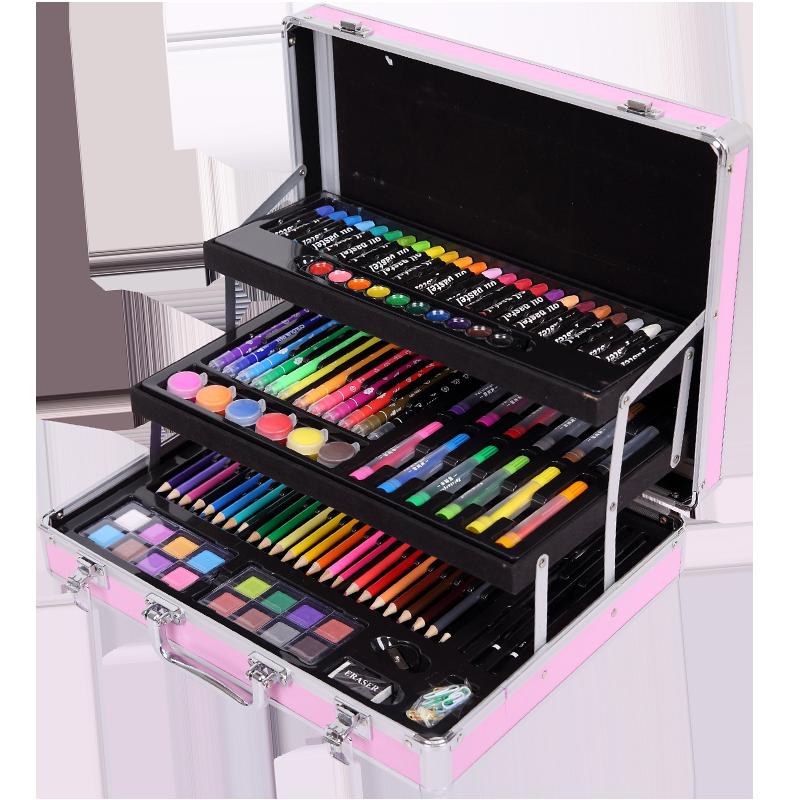 水彩笔套装儿童可水洗彩色画画笔画笔初学者儿童幼儿园小学生用宝宝涂鸦颜色水溶性专业美术绘画12色24色36色