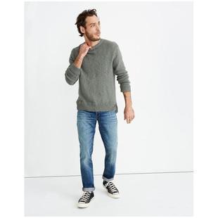Madewell/美德威爾男牛仔褲純棉直筒寬鬆做舊磨白春秋正品AH660