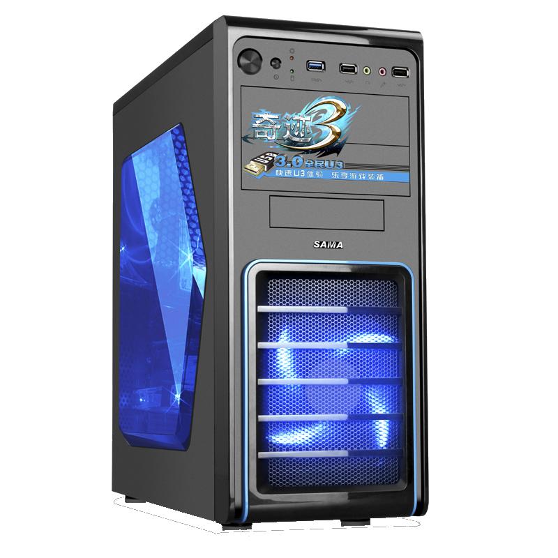 先马奇迹3标准版台式电脑机箱散热好原生USB3.0全黑化侧透