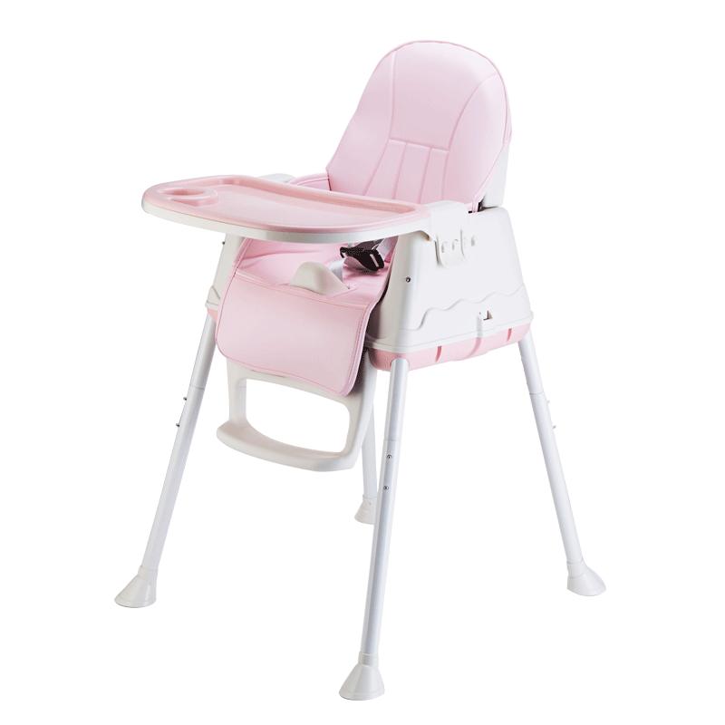宝宝餐椅儿童婴儿学座椅带轮子简易餐厅饭店专用歺槕椅大号大宝宝