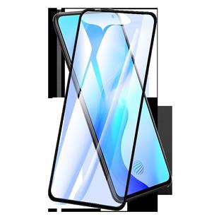 vivox30鋼化膜x20全屏覆蓋vivo x20手機貼膜抗藍光步步高vivix30全包邊防摔x20plus原裝防指紋無白邊鋼化玻璃