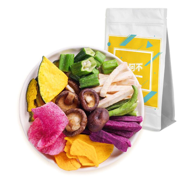 综合果蔬脆片脱水蔬菜干混合装什锦水果干秋葵香菇脆片袋装零食