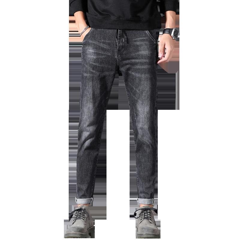 罗蒙夏季男修身小脚2020新款牛仔裤