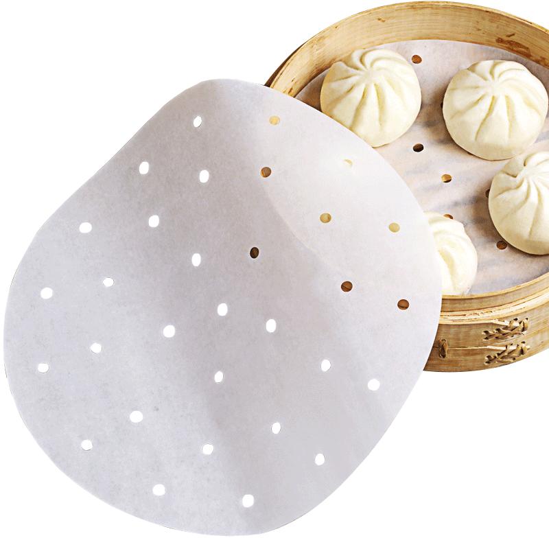 烤乐仕蒸笼纸蒸馒头垫蒸包纸100张圆形直径23cm一次性家用不沾11月05日最新优惠