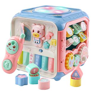 嬰兒童益智早教玩具0-1-2-3週歲半寶寶繞珠串珠積木百寶箱男女孩