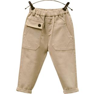 童裝男童春秋褲子2020新款兒童洋氣百搭小孩休閒褲寶寶時髦長褲潮