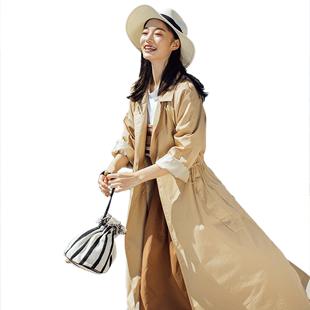 2019流行韩版工装女风衣新款薄外套