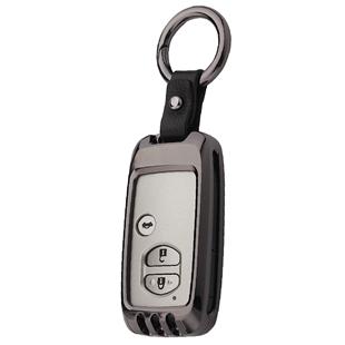 適用於豐田鑰匙包蘭德酷路澤老款凱美瑞霸道普拉多漢蘭達車扣殼套