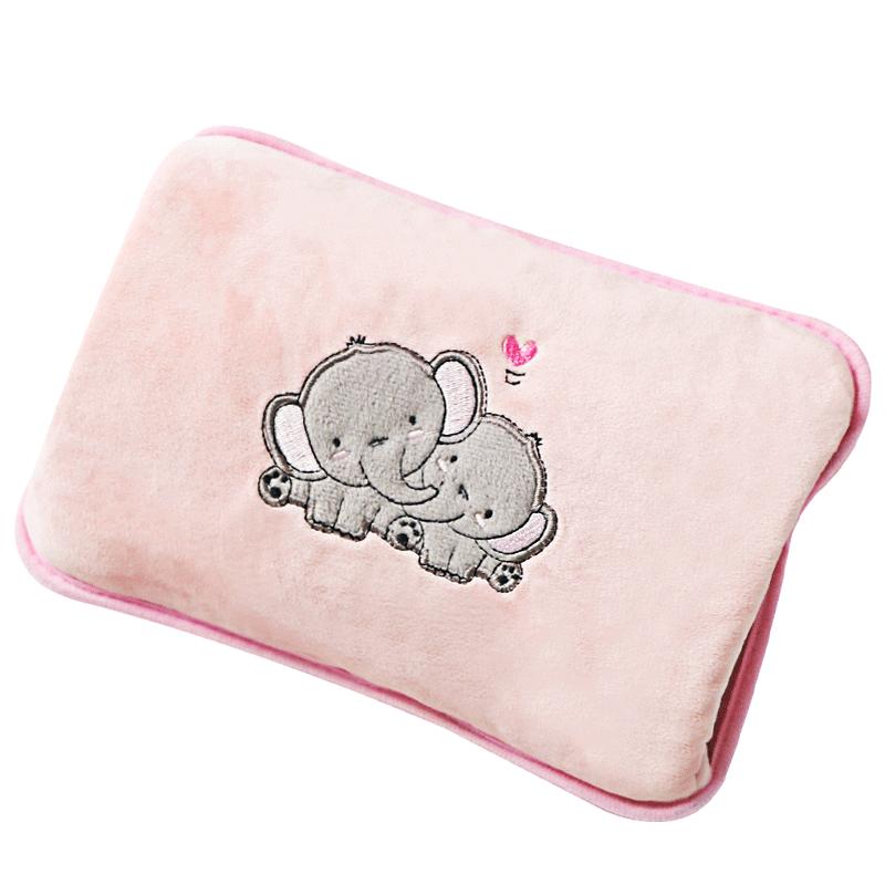 热水袋防爆充电式暖手宝宝暖肚子可爱电暖宝女毛绒暖水袋热宝注水