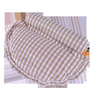 乳胶颗粒颈椎枕头护颈枕圆柱糖果枕