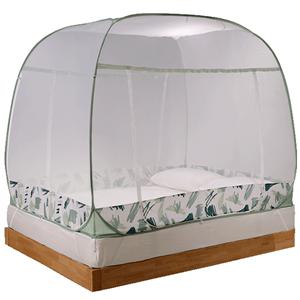 富安娜家用免安装蒙古包防摔蚊帐