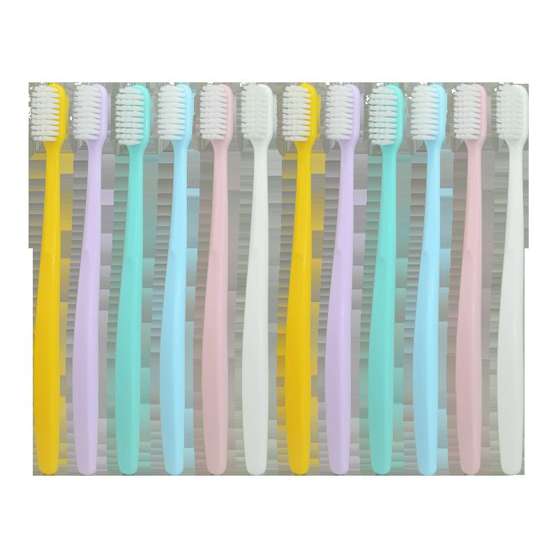【尚口清】超细软毛成人牙刷12支