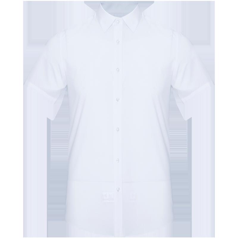 忘不了男装春夏季短袖白衬衫男士商务休闲正装薄款修身短袖衬衣男