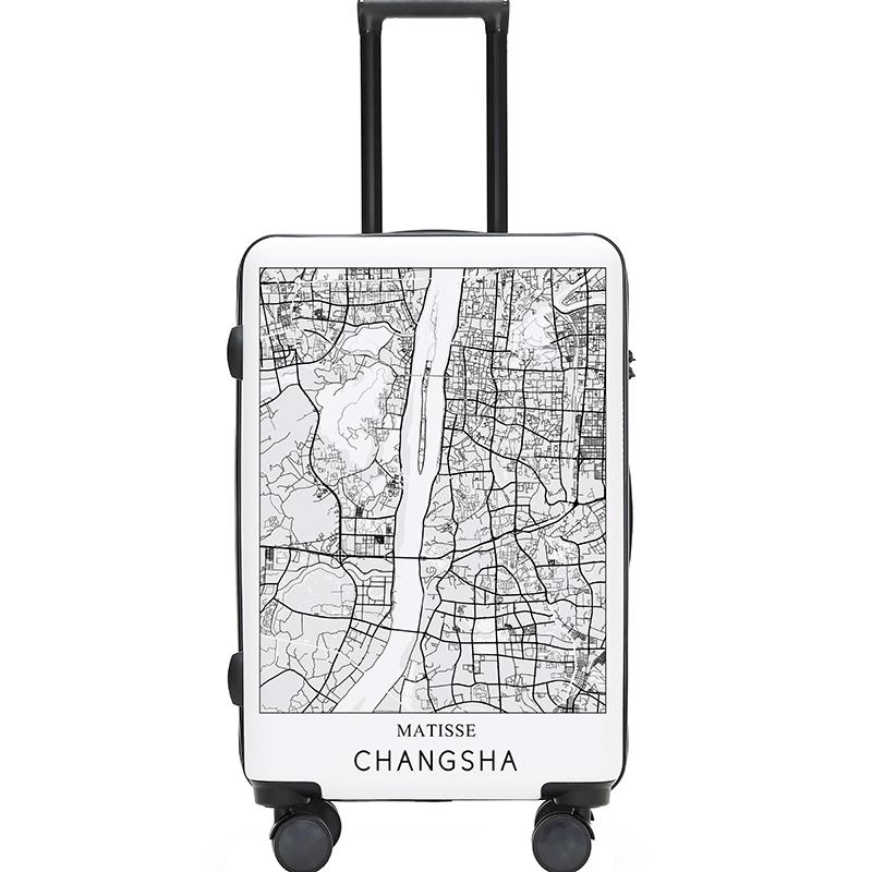 Matisse城市地图拉杆箱 旅行箱行李箱20寸24寸网红箱包INS国潮