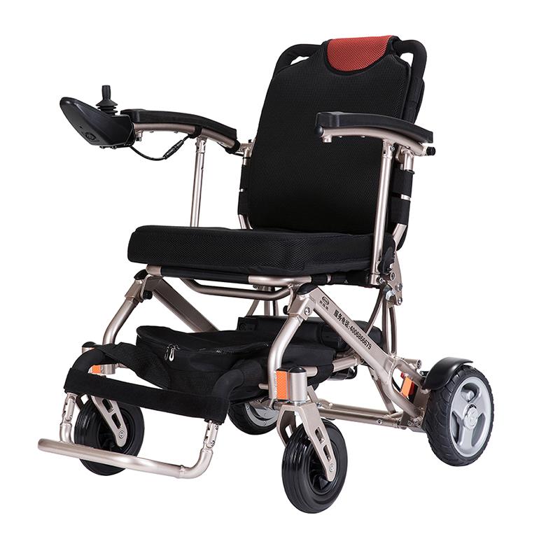德国斯维驰电动轮椅007轻便折叠锂电池可上飞机老年残疾人代步车