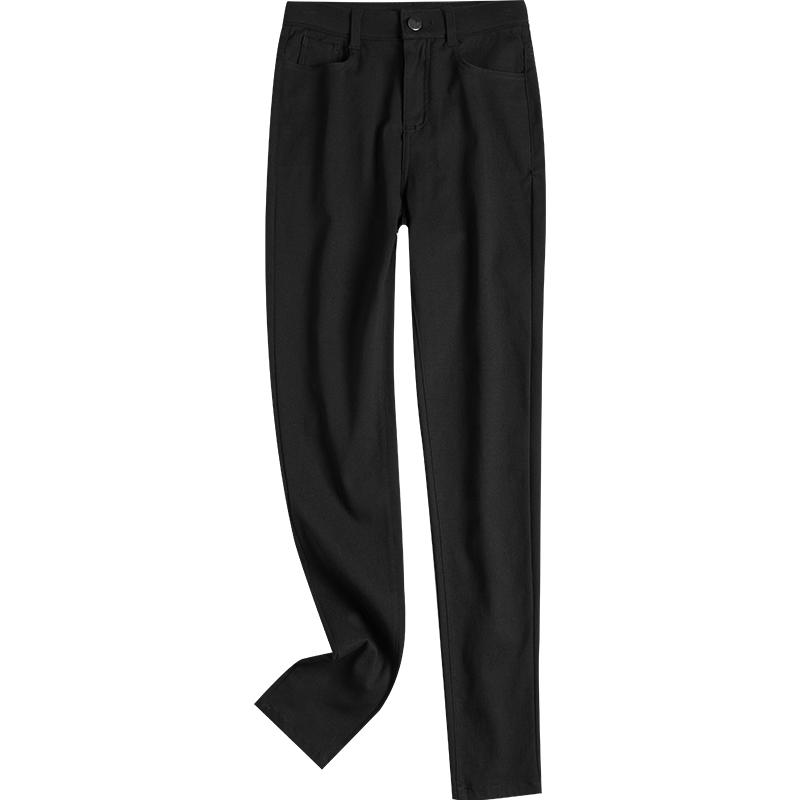 打底裤女裤外穿紧身高腰小脚显瘦黑色春秋冬款加绒加厚铅笔小黑裤