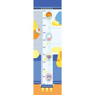 兒童卡通身高貼創意火箭寶寶量身高牆貼紙可移除男孩房間牆面裝飾