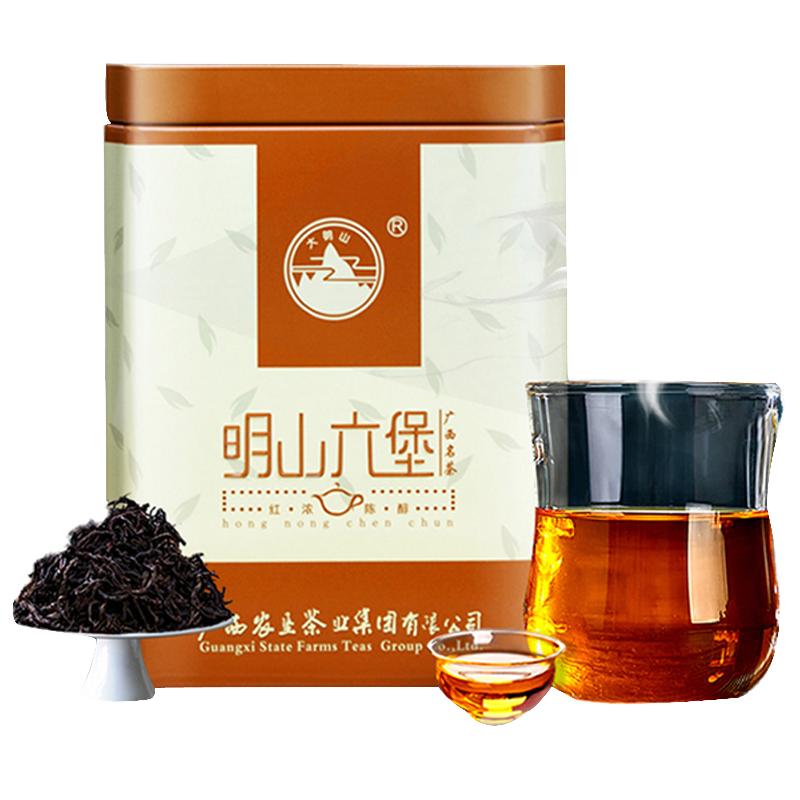 大明山黑茶广西六堡陈香茶11年陈散装陈茶罐装200g六堡茶