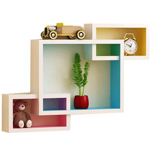 牆上置物架客廳電視背景牆面隔板影視牆壁掛裝飾牆櫃房間創意格子