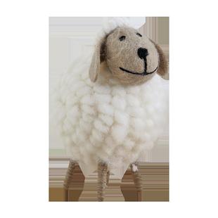 綿羊北歐玄關酒櫃電視櫃家居裝飾品ins擺件卧室小擺設品創意可愛