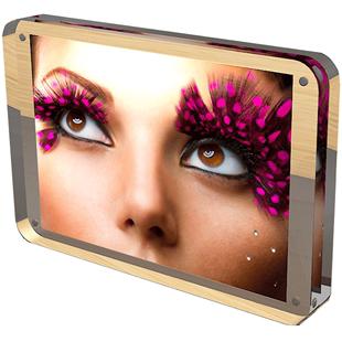 郝可家 6 7 8寸亞克力相框創意雙面透明A4證書獎狀框照片擺台相框