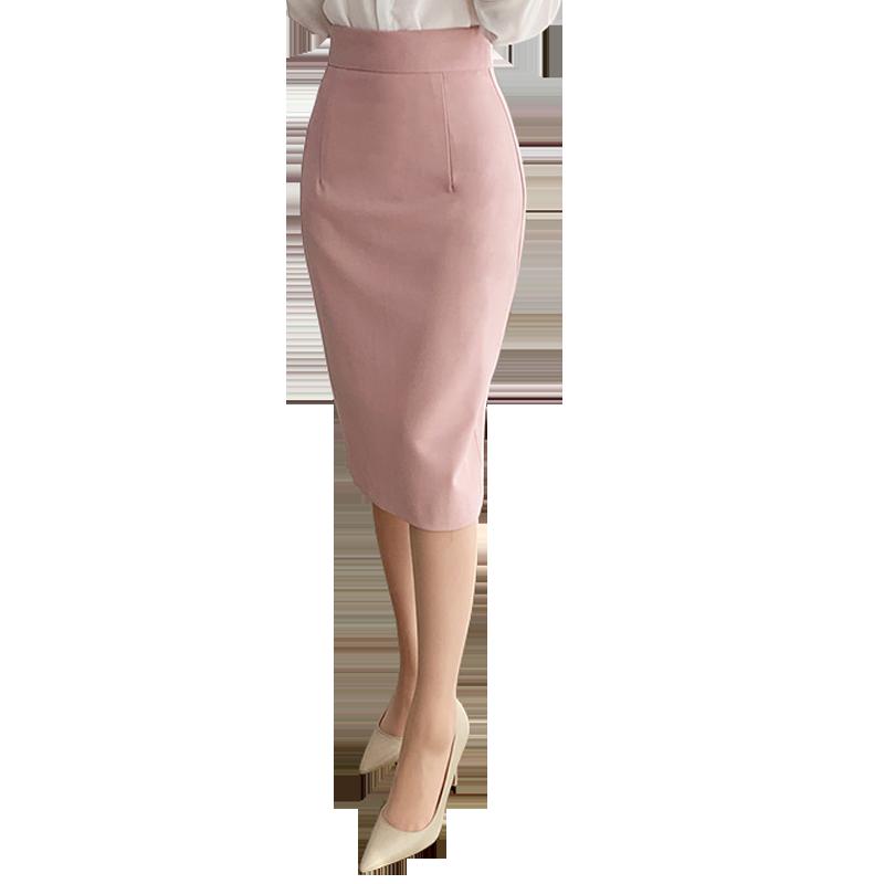 半身裙中裙包臀显瘦一步裙高腰开叉