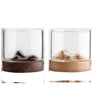 木笙玩物玻璃杯創意水杯辦公室喝茶杯日式個性簡約高顏值網紅杯子
