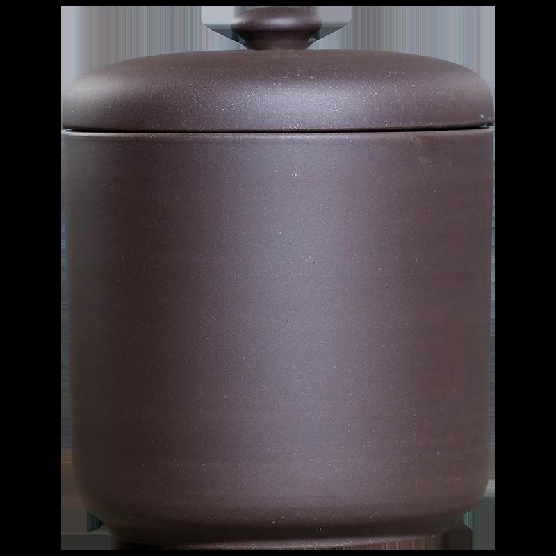 雅辞坊宜兴八饼紫砂茶叶罐大号普洱存储茶罐缸家用密封罐陶瓷茶具