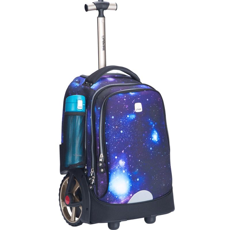 UNIKER初高中小学生拉杆书包可爬楼大轮子时尚潮流男女儿童旅行箱