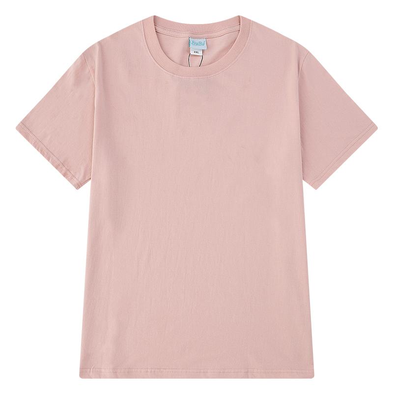 嘻哈纯棉纯色情侣短袖t恤打底衫