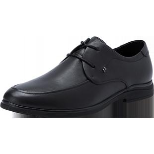 百麗商務男鞋2020春季新品商場同款牛皮革繫帶休閒鞋6UK01AM0