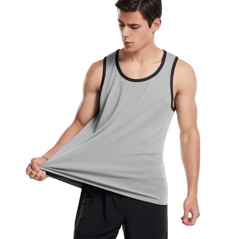 宽松男无袖运动健身服篮球夏季t恤