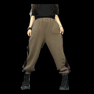 素倩(服飾)大碼寬鬆衞褲女加絨2020冬季新款百搭時尚顯瘦闊腿褲