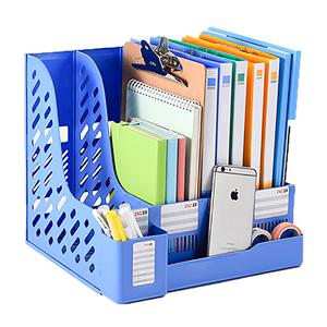 两个装加厚文件架档案袋书立收纳盒