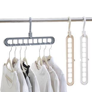 多孔家用多功能折叠衣柜收纳挂衣架