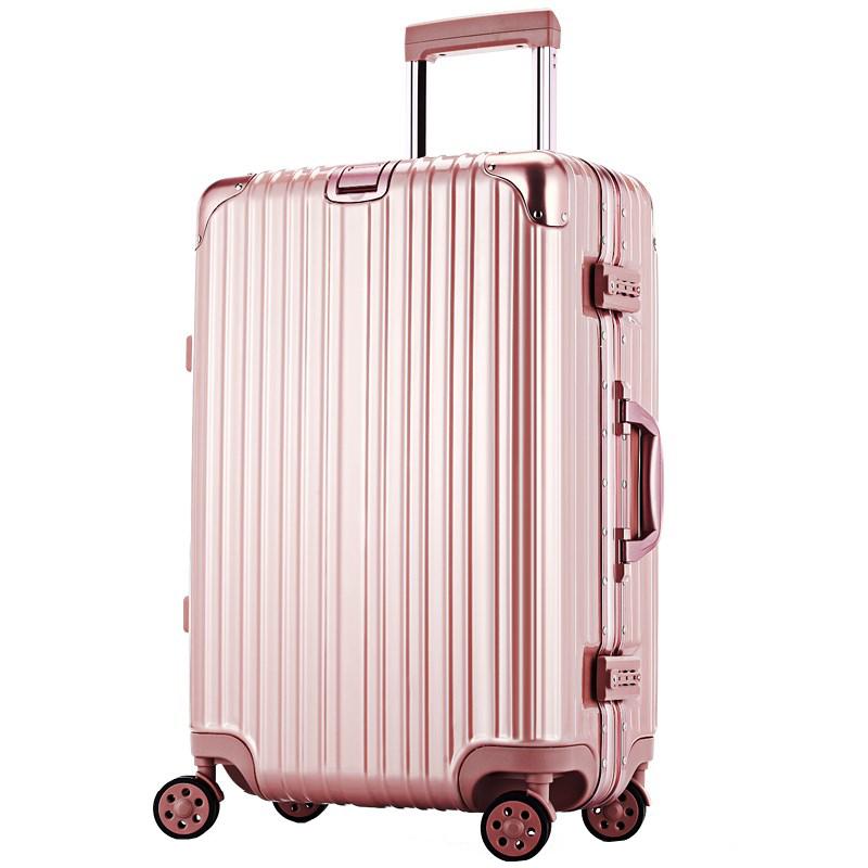 正品铝框拉杆箱登机箱万向轮242629寸行李箱子男女商务旅行箱包潮